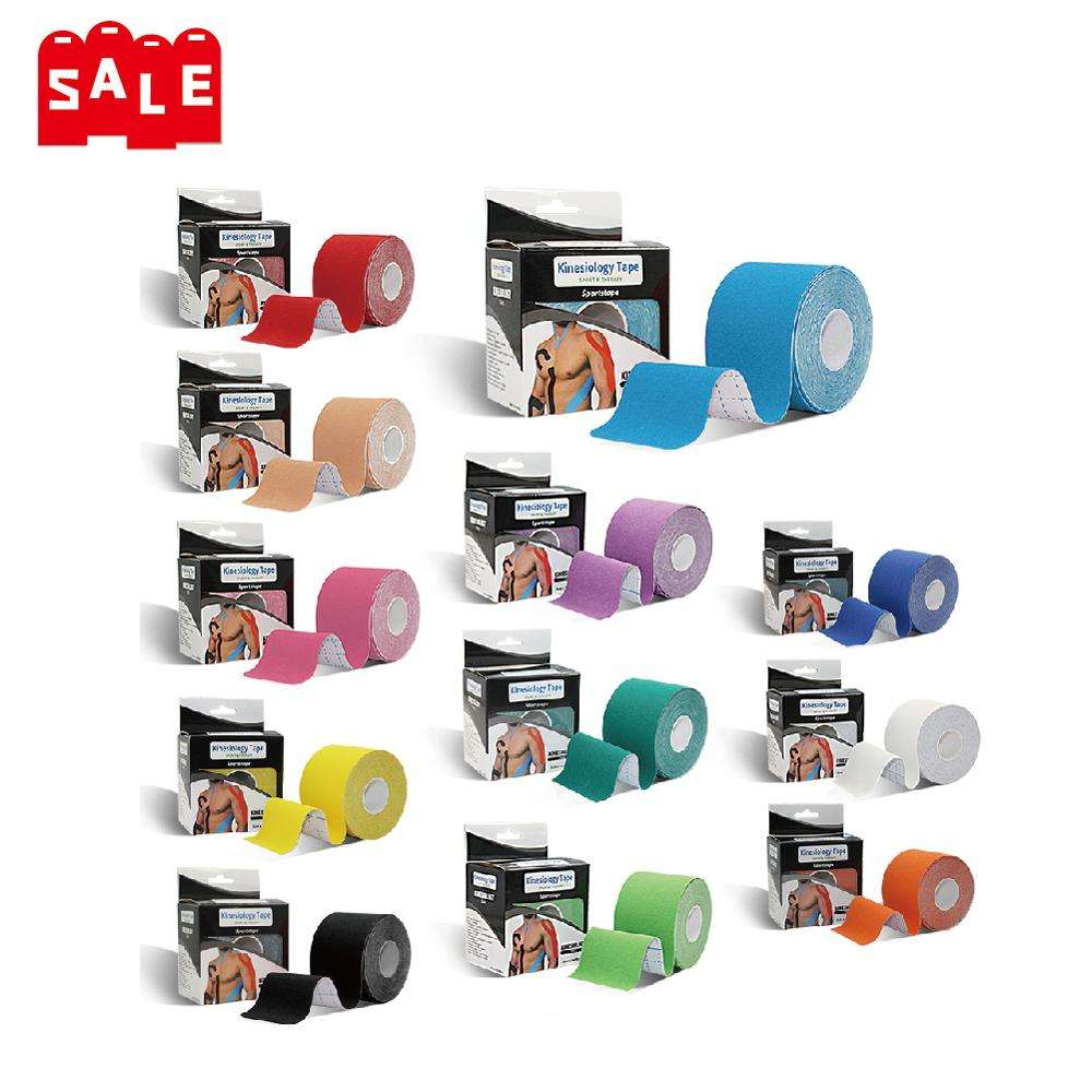 Free Design Logo Custom Kinesology Tape 10cm Physio Sporttape Waterproof Athletic Tape Sports Kinesiology Tape