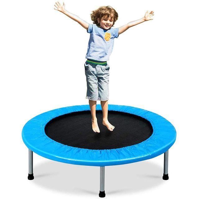 Foldable Mini Fitness Trampoline Exercise Rebounder for Kids Adults Jump Indoor Garden