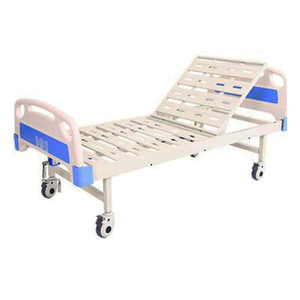 best seller 1 Function One Crank Manual Cheap Hospital Nursing bare Bed