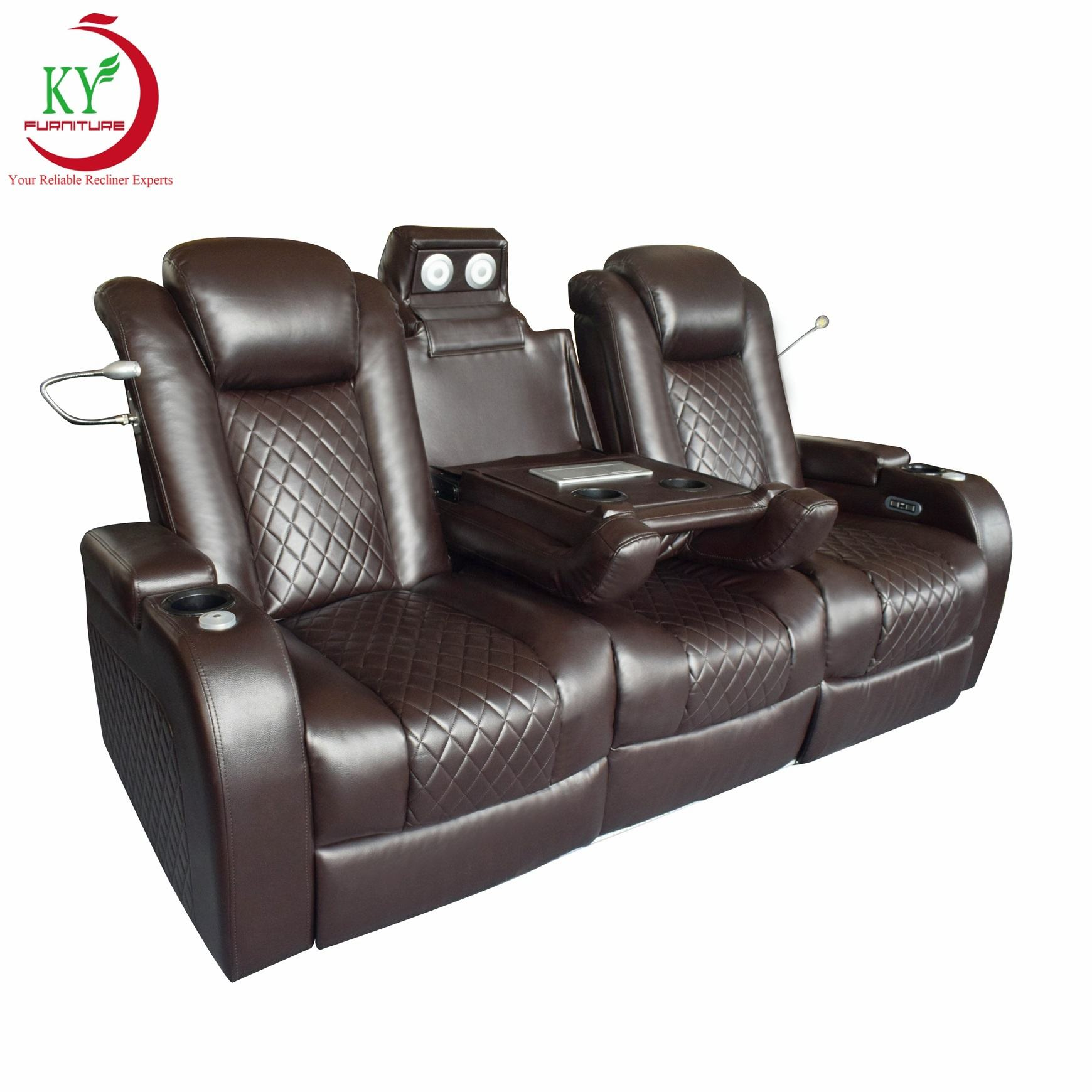 JKY Furniture Customized Adjustable Living Room Power Electric VIP Movie Home Theater Cinema Seating Recliner Sofa