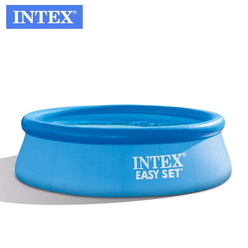 Intex 28110 8FT X 30IN EASY SET POOL Inflatable Above Ground Pool Family Swimming Pool