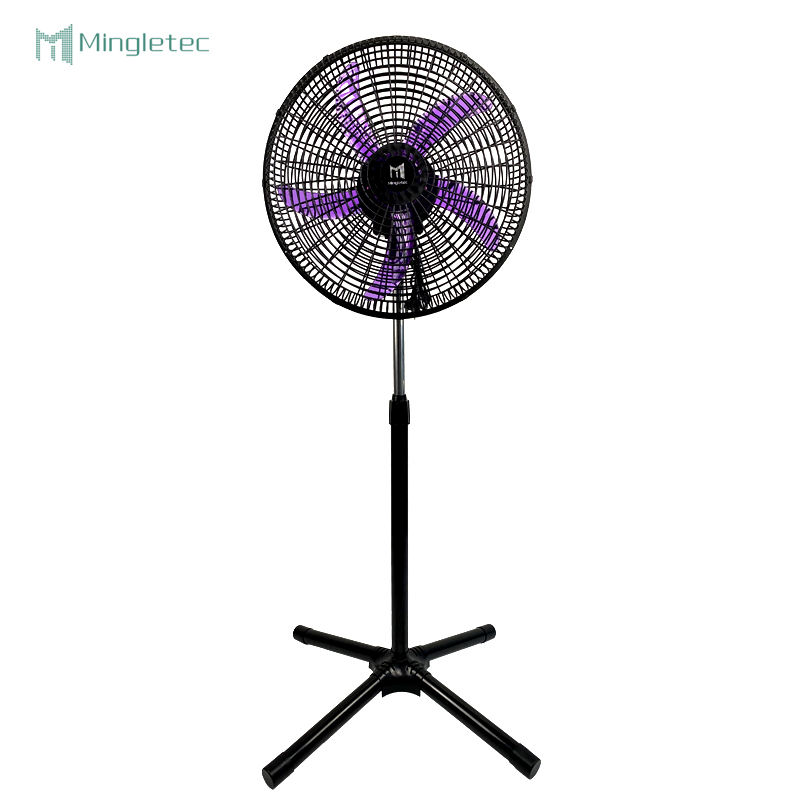 Cross base office outdoor plastic laptop best rated 5 blades 18 inch cooling stand fan for home