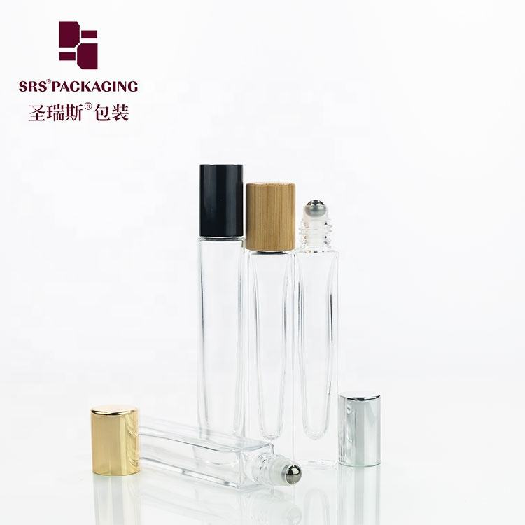 Super promotion glass essential oil roller 10ml clear roll on bottles free shipping