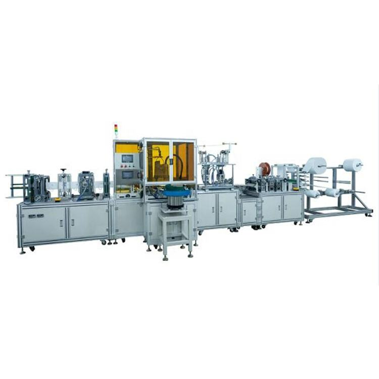 Automatic Folding type N95 mask machine /N95 Cup Face Mask After Process Making Machine with Earloop Welding to Finishing