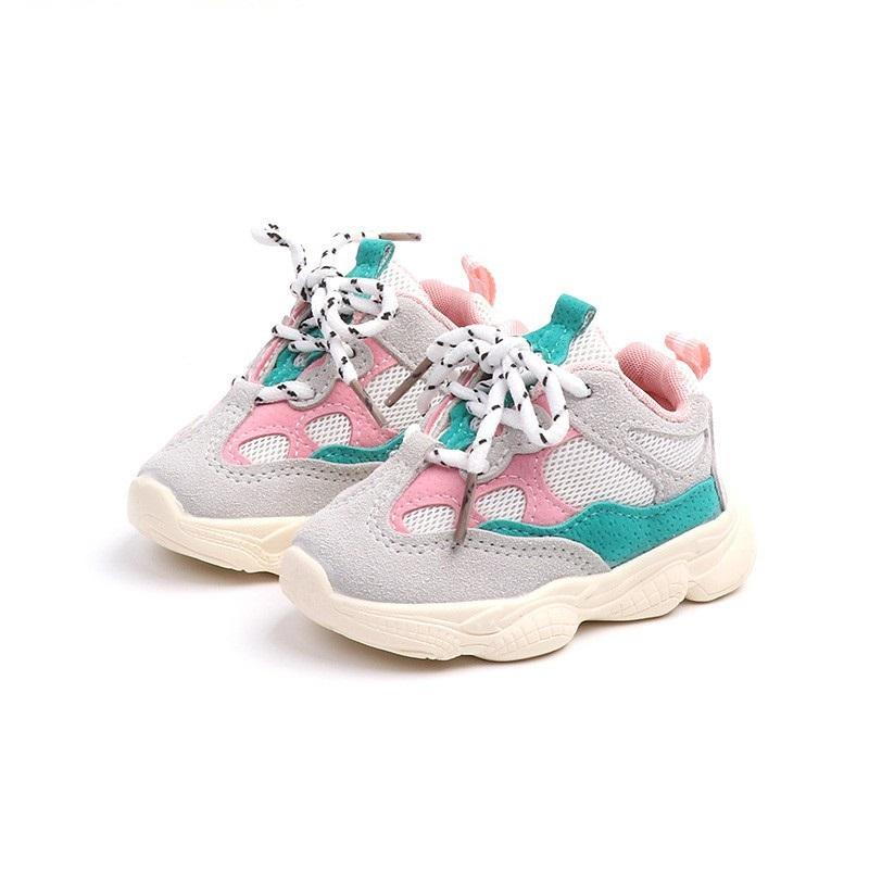 Comfortable new design walking running flat casual sport children kids baby boy girl sneakers shoes