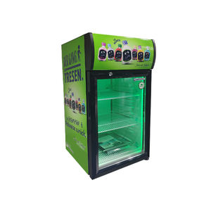 Promotion 52L commercial supermarket countertop upright beverage display cooler