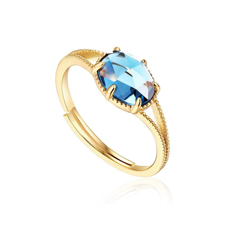 Один камень конструкции Овальный тысячелетия синий Мистик Топаз драгоценный камень обручение обручальное кольцо