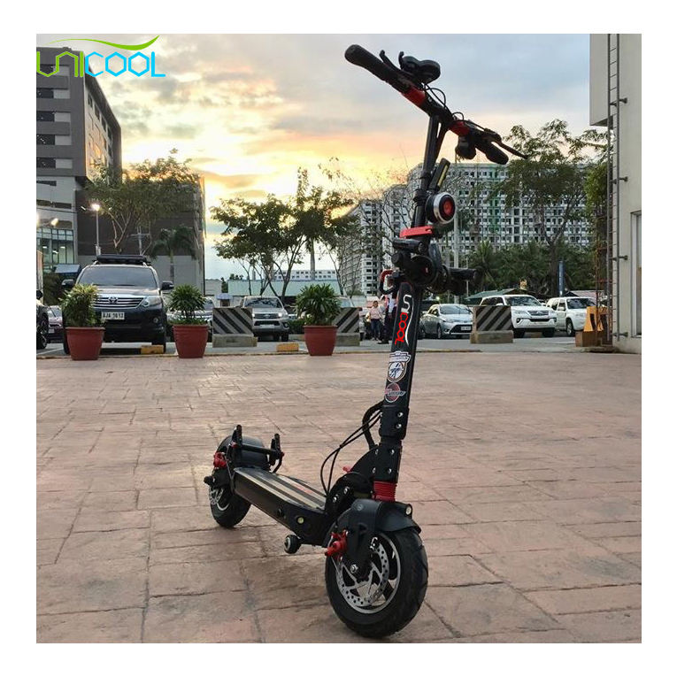 Unicool 10inch 36V 48V 52V 500W 600W 1000W suspension two wheel electric scooter for adult