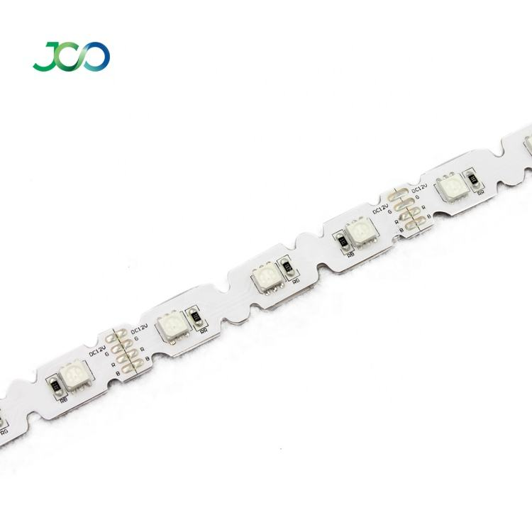 JS Smart LED Produsen Outlet Bentuk S RGB LED Strip Flexible SMD 5050 Smart Strip Light 12V / 24V LED Tira