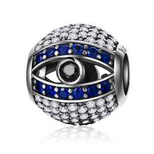 fashion charms 925 sterling silver evil eye Nazar eye Charms bracelet sterling silver findings for jewelry making