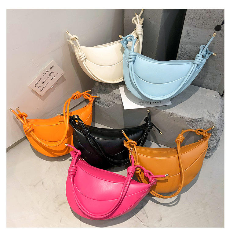 Fashion underarm shoulder bag 2021 new trendy dumplings handbags woman hobos crossbody bags
