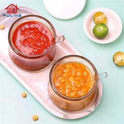 Durable 2Pcs Set Kitchen Accessories Tools Plastic Condiment Containers with Lids