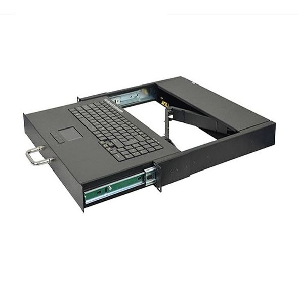 19 inch 1U rack mount single port KVM keyboard with touch pad