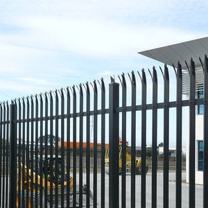 Powder Coated Black or Green Coated Palisade Fence W Type D Type