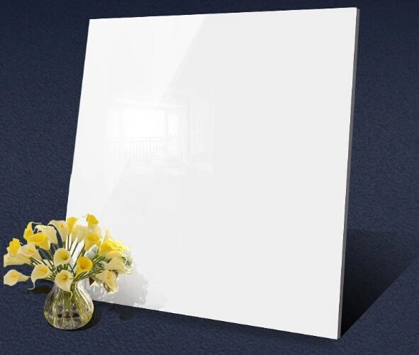 60x60cm Super White High Glossy 55 Degree Whites Nano Polished Floor Tile