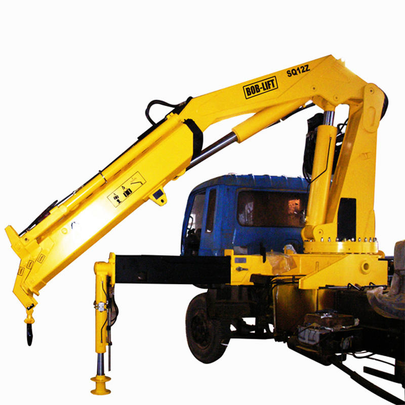 Factory price 12 ton hydraulic knuckle boom truck mounted crane
