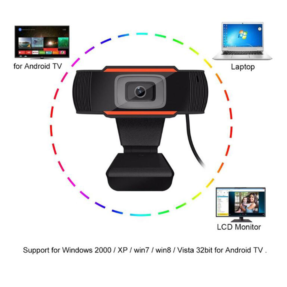 1080 Webcam Full HD 1080P USB Video Game Camera For Portable Laptop Computer Web Cam Built-in Microphone