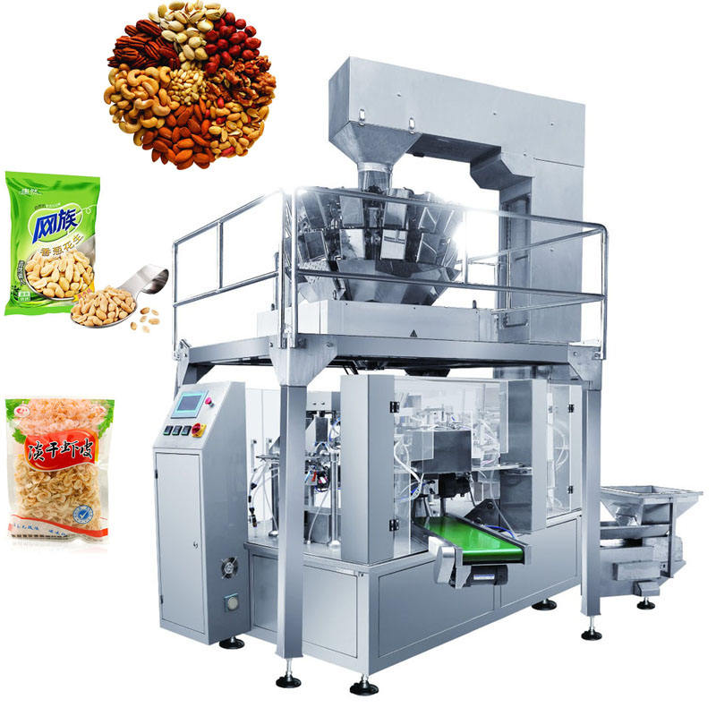 Automatic Rotary Bag Given Stand Up Pouch Filling And Packing Machine Popcorn Doypack