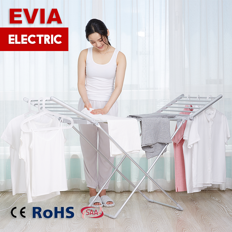 Household balcony aluminium folding portable laundry rack cloth stand electric clothes dryer