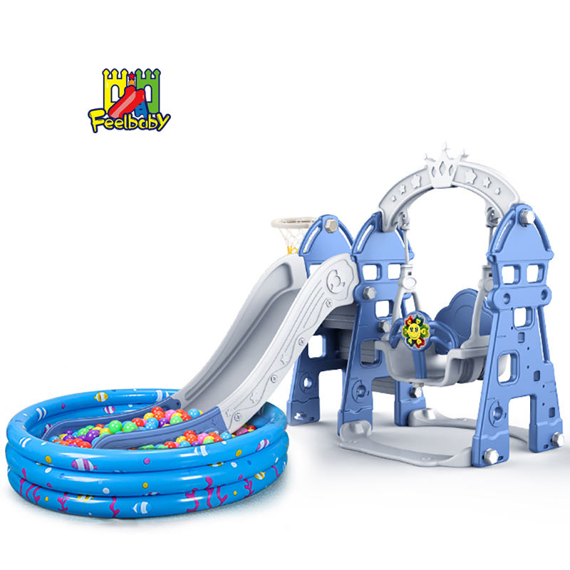 Cheap children mini home game toys folding custom plastic indoor kids slides and swing for baby playground equipment play set