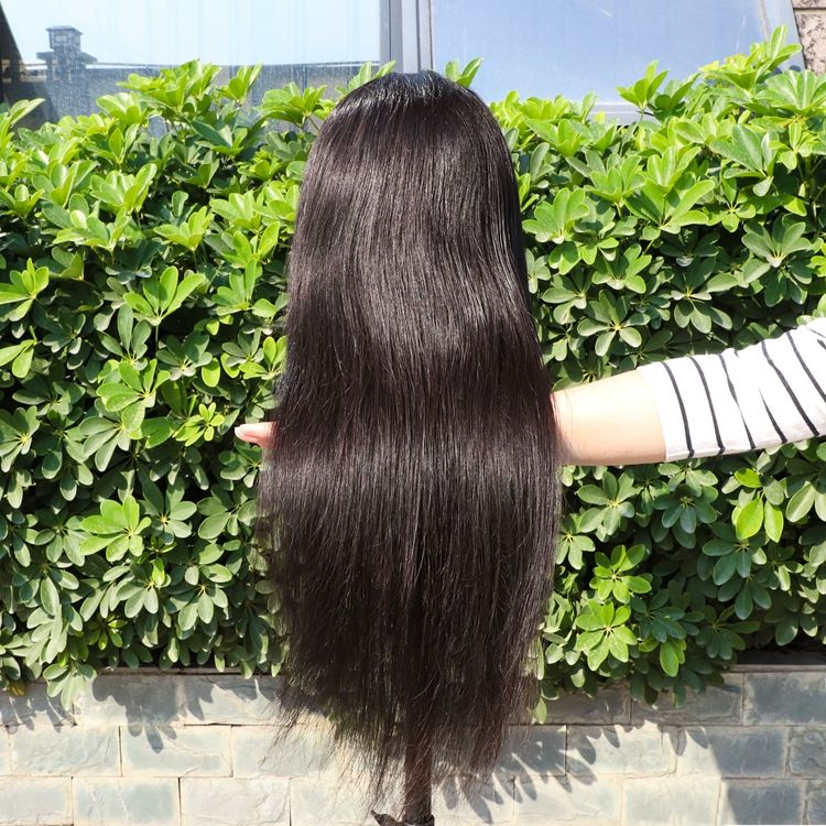 Brazilian 18 inch virgin full wholesale 9a 8A real raw indian wigs human hair lace front with baby hair for black women
