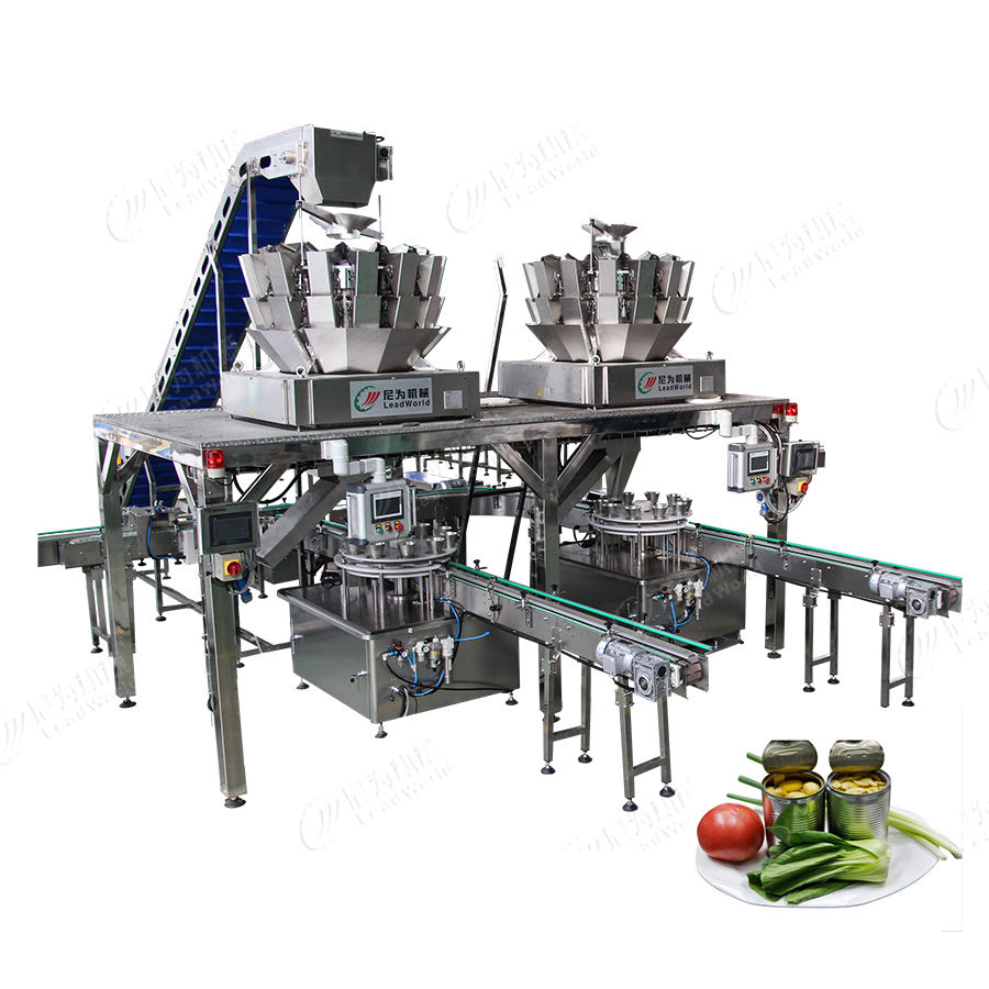 automation beer soda tin tomatoes canning packing machine