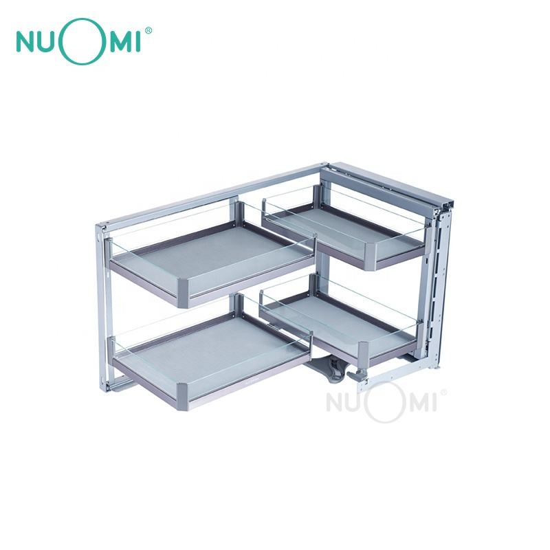NUOMI Hot Sale Kitchen Cabinet Magic Corner Basket PURPLE CRYSTAL Series