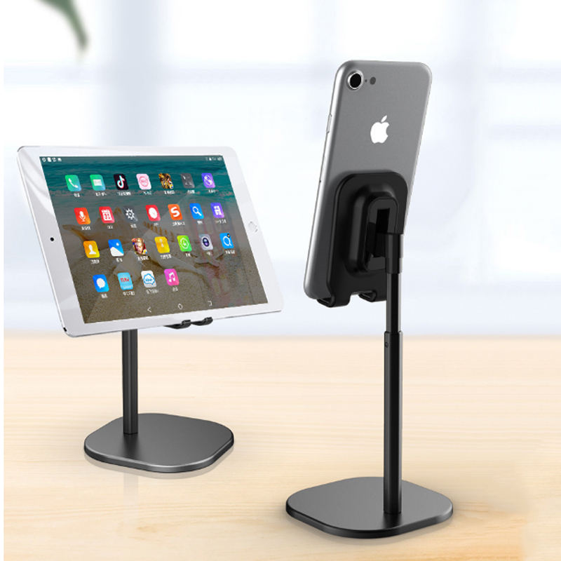 360 degree flexible Desktop Stand Aluminum Adjustable Mobile Phone lazy Tablet PC Floor Stand Holder for iphone &iPad pro