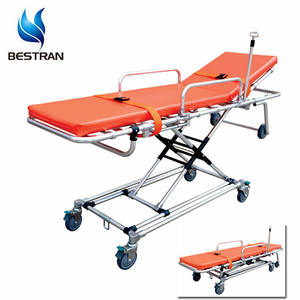 BT-TA015 Hospital Non-magnetic ambulance stretcher MRI Compatible Stretcher Medical Foldable Gurney Cart Price