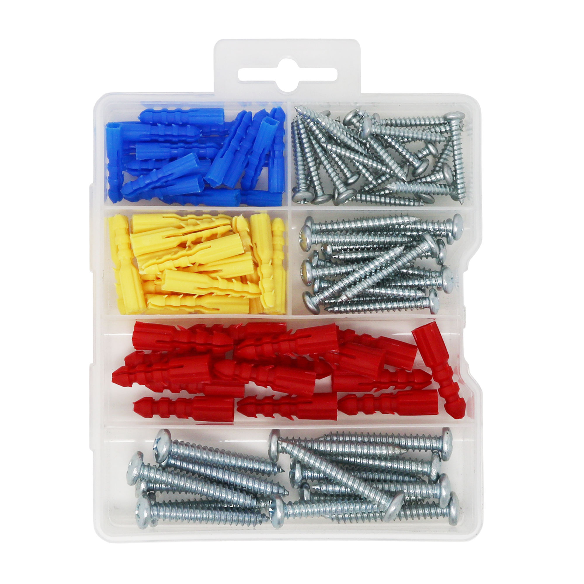 Factory direct supply PP material resistant to rust Ribbed drywall Anchors easily Self-Tapping Screws assortment