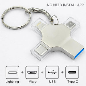 YUQI Pen Drive di Tipo c Otg Usb Flash Drive 3.0 Per Iphone ipad Android 16gb 32gb 64gb 128gb 256gb Pendrive 4in1