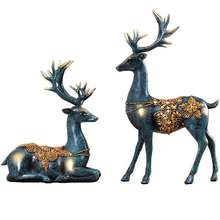Home Decoration Resin Crafts Sculpture Christmas Deer Statue For Gifts