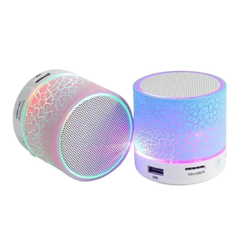 Grote Crack A9 Music Speaker <span class=keywords><strong>Mini</strong></span> Draagbare Speaker Rainbow Blue Tooth Draadloze Speaker Met Led Verlichting