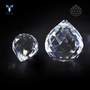 Transparent Faceted Crystal Ball Pendants Prism Crystal Hanging Ball Beads For Home Decoration