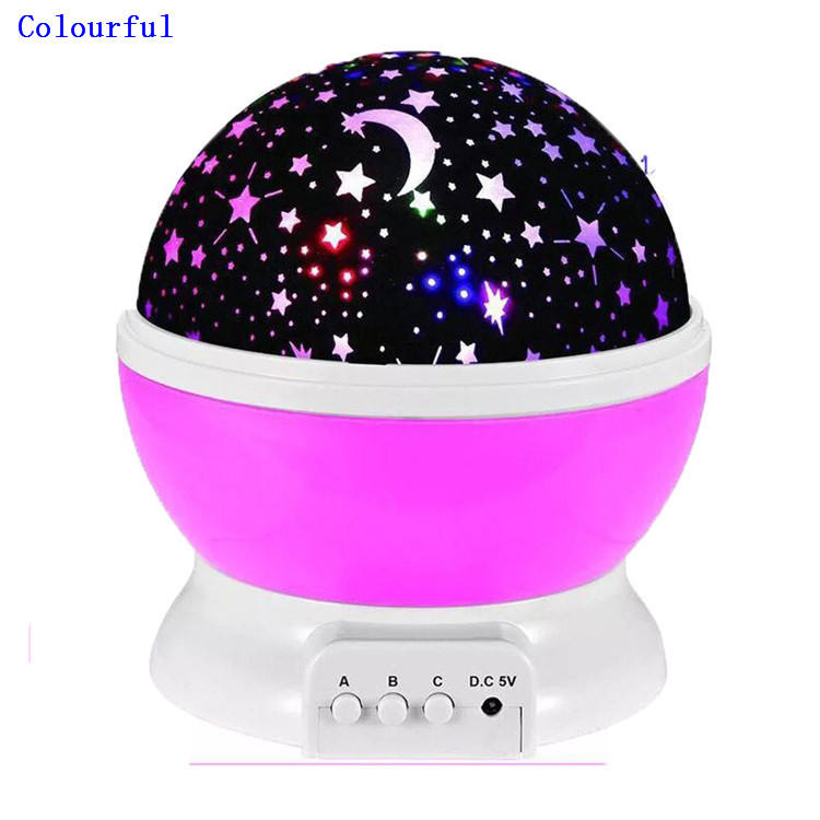 Indoor Decoration RGB Baby Star 360 Degree Rotation Projector Night Club Stage Light Dance Floor Led sky lantern