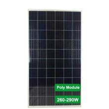 Vmaxpower 280W poly crystallinr solar cells, solar panel 265W transparent solar panel for 5KW solar energy system