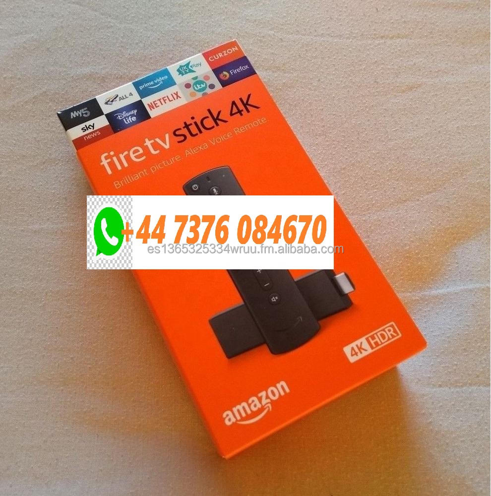 Nuovo SIGILLATO-Amazon TV Bastone Fuoco 4K Ultra HD Firestick con Alexa Telecomando Vocale Lettore Multimediale In Streaming