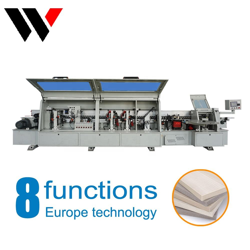 Pre-milling corner rounding full automatic edge banding machine for furniture