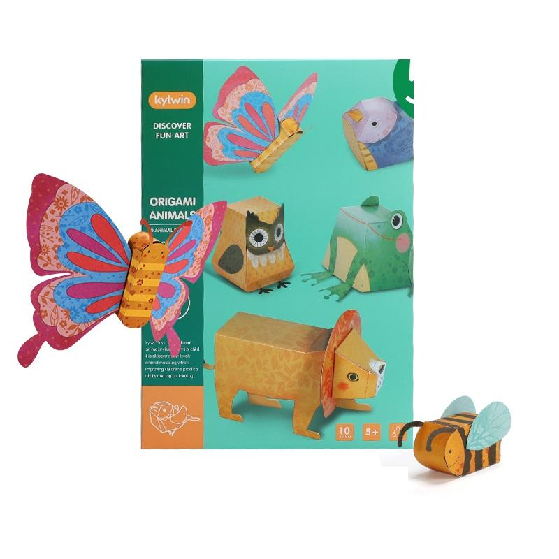 Educational 3D Diy Animal Origami Paper Creative Puzzle Handmade Assembly Toy