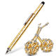 Hisen 2019 new Stress Reducer Relief Toys Gift Box funny black golden kits Fidget magnetic polar pen with stylus ball pen
