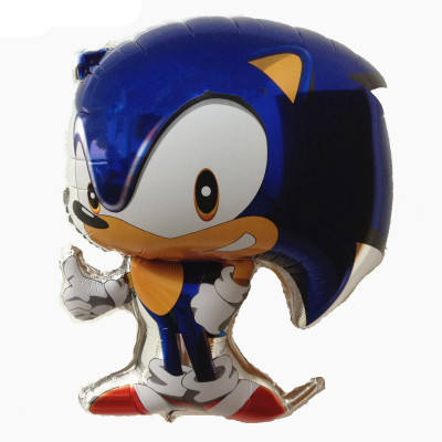 Hot selling Cartoon Character the Hedgehog Sonic Series Shape Helium Foil Balloon For Birthday Party Decoration