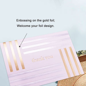 luxury design kraft gold foil business blank thank you note card custom with logo