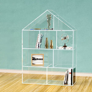 VONVIK Clear Acrylic Kids Bookcase children House Lucite Book Shelf