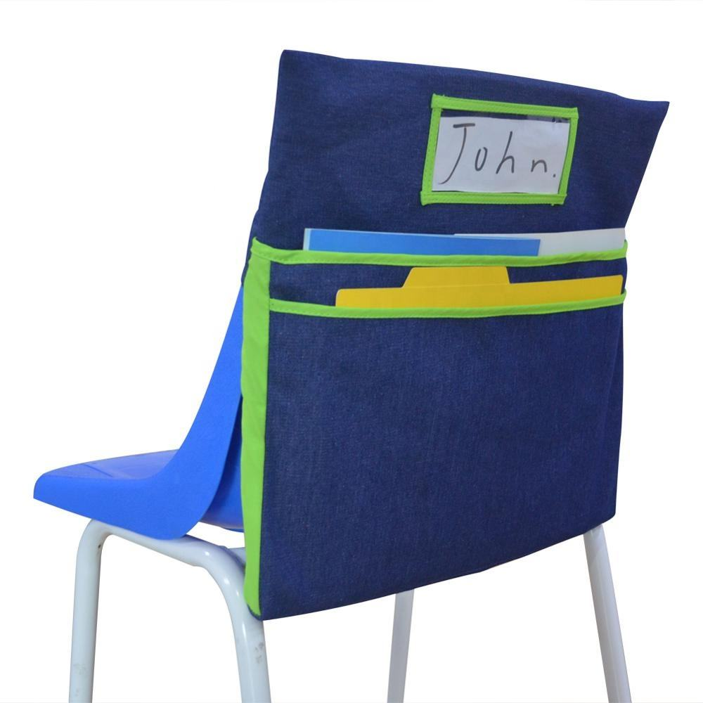 seat sacks chairbags denim pocket chart in classroom