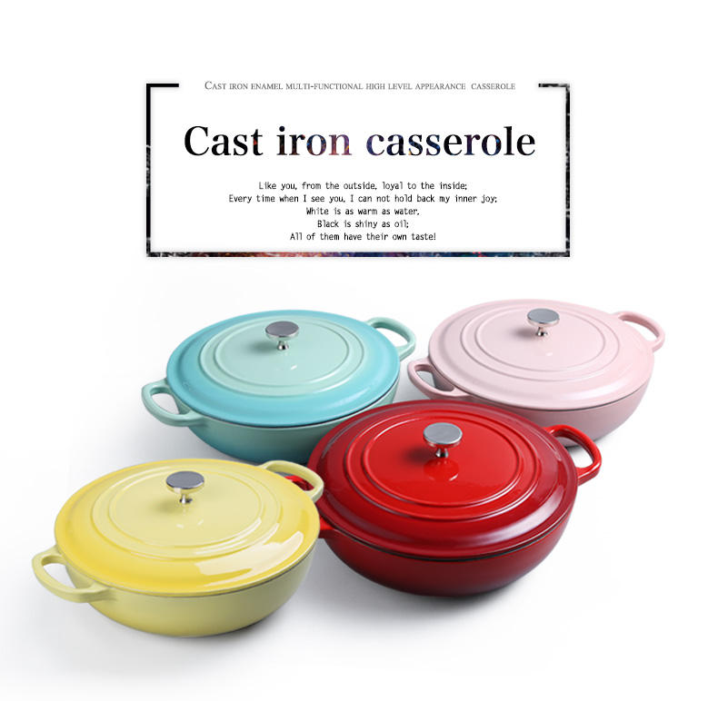 Enamel Cast Iron Cookware Set Pots And Pans