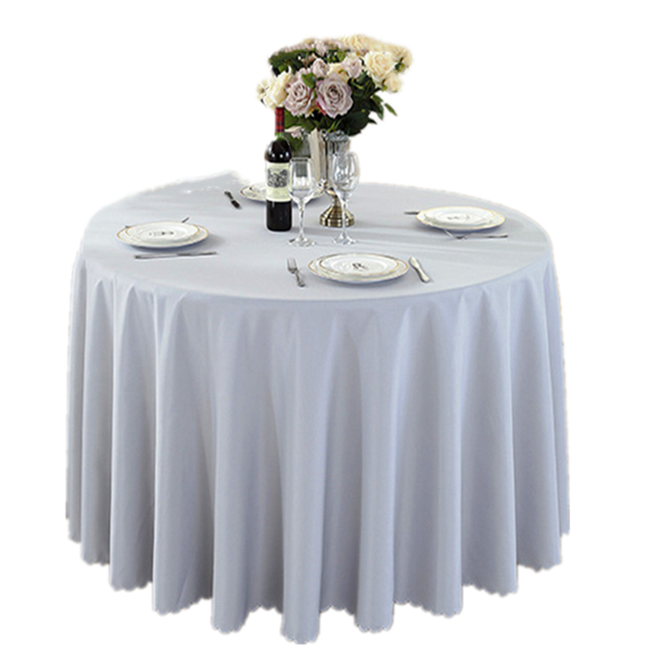 Round shape 1.3m 1.5m diameter table use Banquet table cloth for wedding
