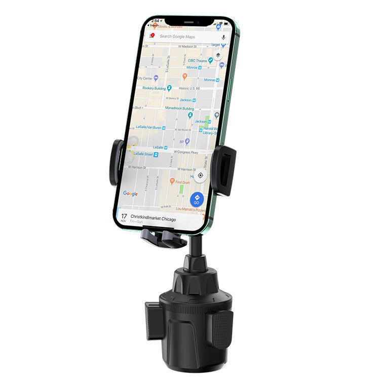 KAKU new arrival car phone holder install Water Cup Position mobile phone stable 360 adjust stand in the car
