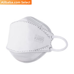 Alibaba Select Individually wrapped white disposable adult kn95 face mask (640pcs/Carton)
