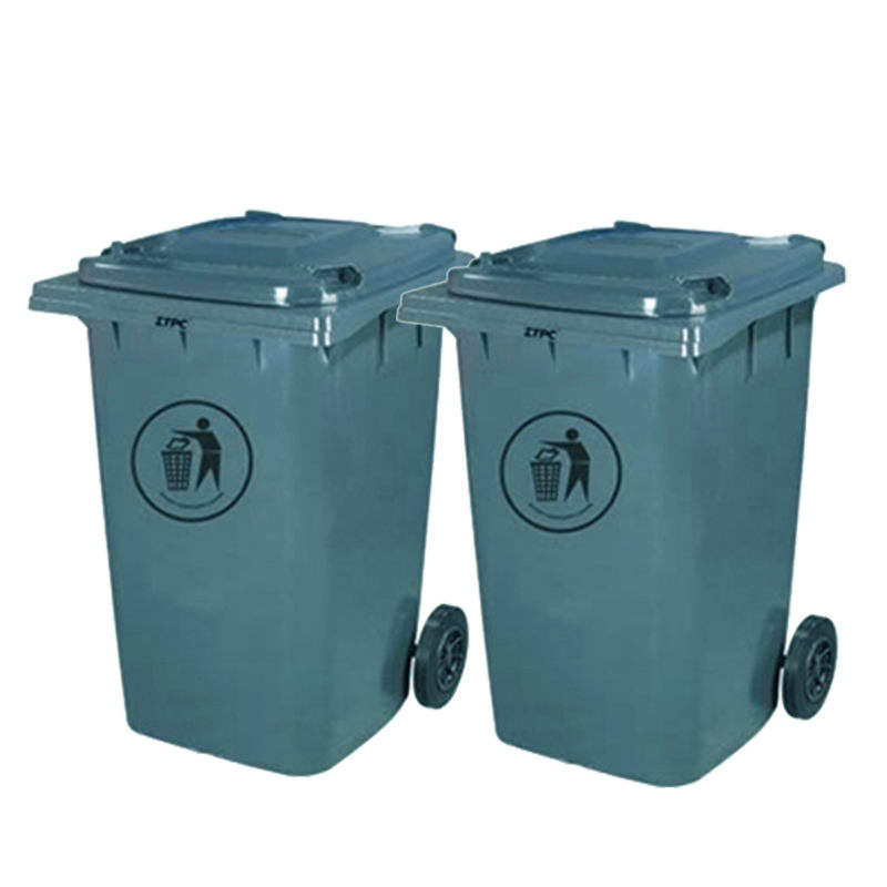 Wholesale Cheap Price 2 Wheels Standing Plastic Waste Bins