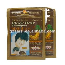 30mlsachet ginseng speedy black color hair shampoo magic darkening shampoo hair color change color shampoo hair oem factory